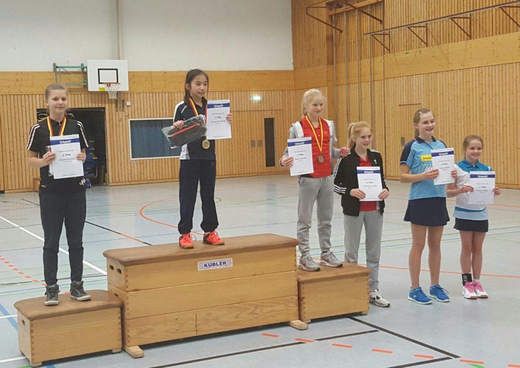 Elisha Kolberg (links) bei der Siegerehrung des 3. Turniers in Dossenheim